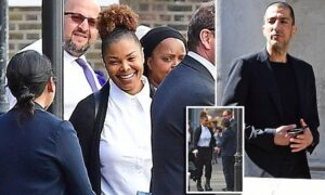 *PREMIUM-EXCLUSIVE* ** RIGHTS: WORLDWIDE EXCEPT IN ITALY ** London, UNITED KINGDOM  - *MUST CALL FOR PRICING BEFORE USAGE**The couple who split shortly after the birth of their son could not have looked more different when exiting the court today . Wissam Al Manna looked sombre , and was alone when he made his way out of a side entrance of the court . Wissam cut a lonely figure in comparison to his ex wife Janet Jackson who left court looking noticeably thinner and in great spirits with an entourage that included her brother Randi , Her assistant and her legal team as she made her way to her chauffeur driven vehicle. Pictured: Janet Jackson BACKGRID UK 15 JUNE 2017  UK: +44 208 344 2007 / uksales@backgrid.com USA: +1 310 798 9111 / usasales@backgrid.com *UK Clients - Pictures Containing Children Please Pixelate Face Prior To Publication*