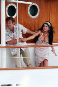 LINDSAY LOHAN on the Set of Liz and Dick