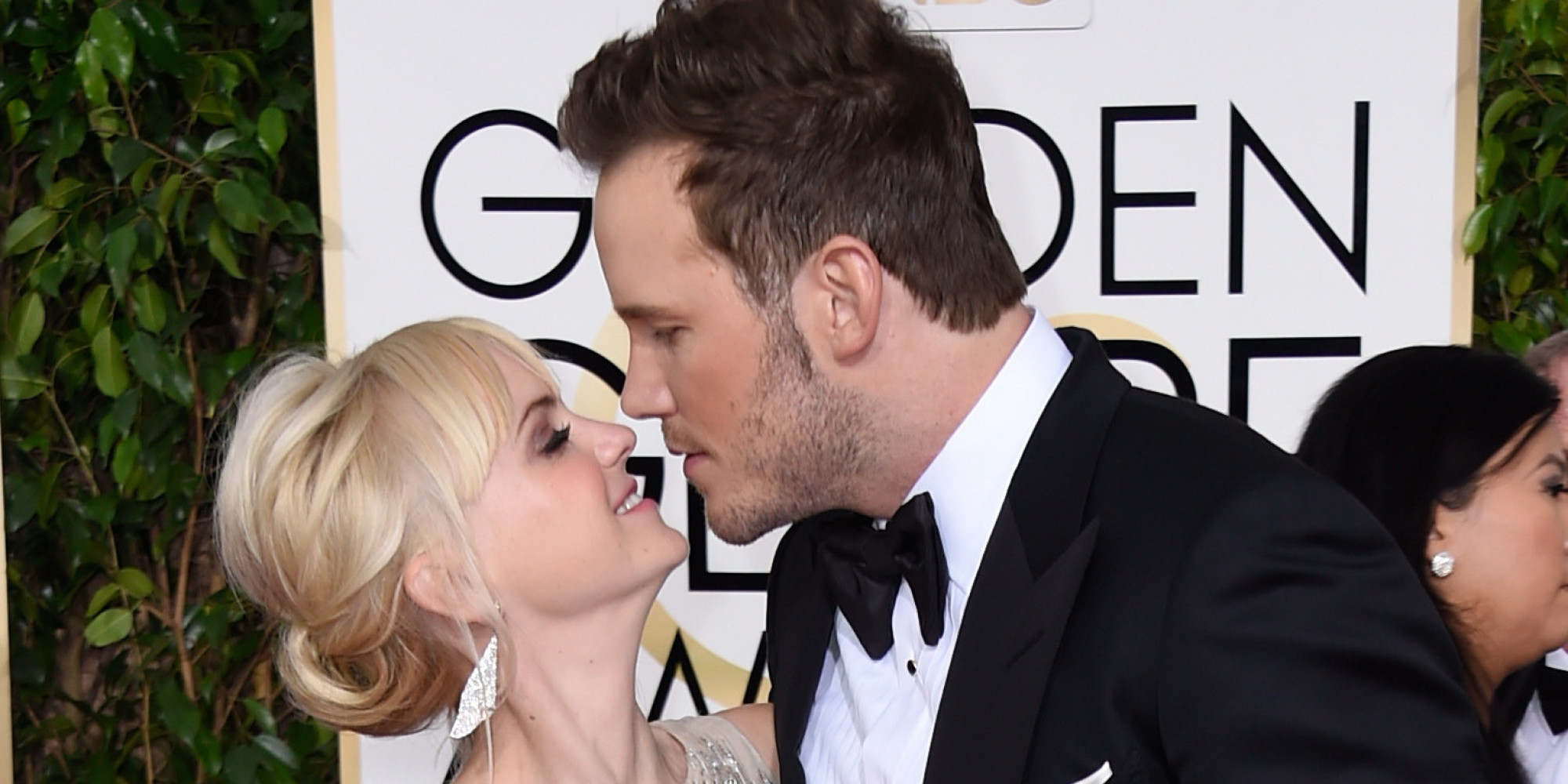BEVERLY HILLS, CA - JANUARY 11:  Actors Anna Faris and Chris Pratt attend the 72nd Annual Golden Globe Awards at The Beverly Hilton Hotel on January 11, 2015 in Beverly Hills, California.  (Photo by Frazer Harrison/Getty Images)