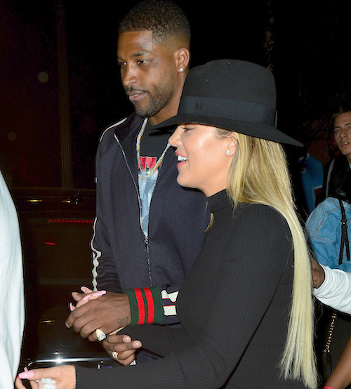 Khloe Kardashian and boyfriend Tristan Thompson leaving Lure Night Club after celebrating Kevin Hart's Birthday.  Featuring: Khloe Kardashian, Tristan Thompson Where: Hollywood, California, United States When: 07 Jul 2017 Credit: WENN.com